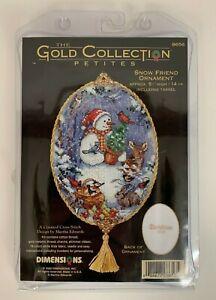 Dimensions-Gold-Collection-Petites-8656-Snow-Friends-Ornament-Cross-Stitch-Kit