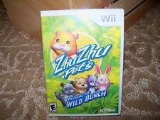 ZhuZhu Pets: Featuring the Wild Bunch  (Nintendo Wii, 2010) EUC