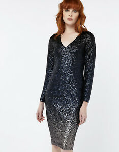 6b275dd0 Image is loading Monsoon-Sequin-Ombre-Dress-Size-8-RRP-99
