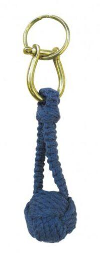 blau Zierknoten Schlüsselanhänger Wurfknoten mit Schäkel//Schlüsselring