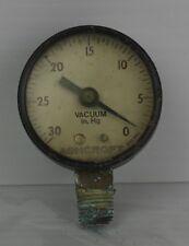 Vintage Ashcroft Vacuum Gauge In Hg Model 595 21