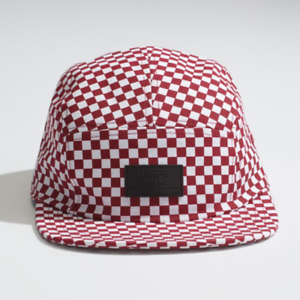 45ecbf20bd8 Vans DAVIS 5 Panel Camper Hat (NEW) Mens Cap RED CHECKERS ...