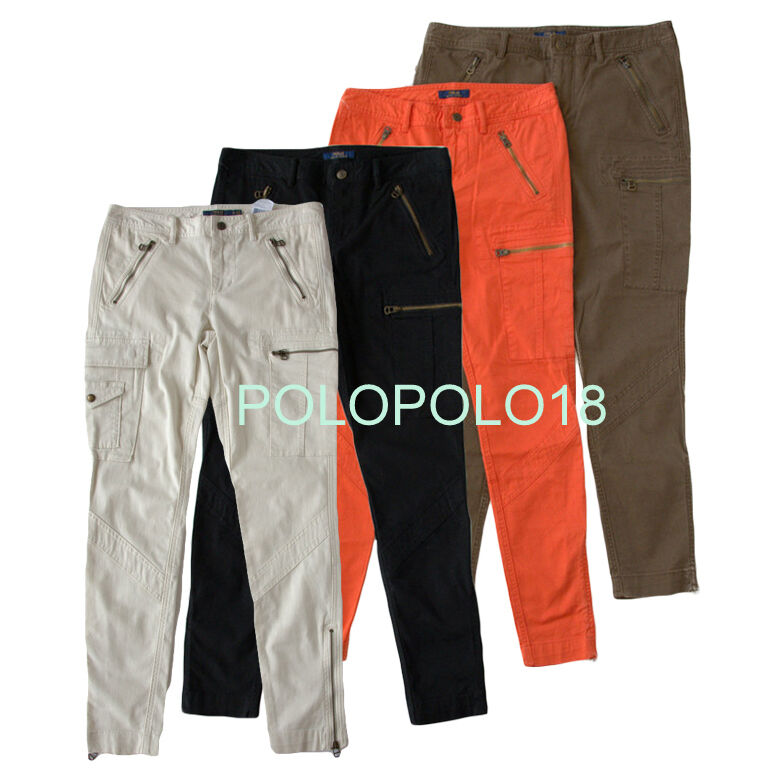 New  165 Polo Ralph Lauren damen Stretch Slim Cargo Pants 6 8 10