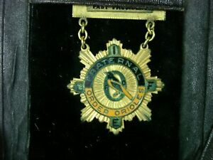ANTIQUE-1937-amp-48-FRATERNAL-ORDER-OF-ORIOLES-POTTSTOWN-PA-PRES-BADGE-RIBBON