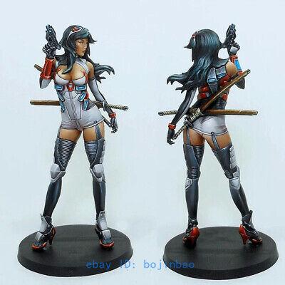 75mm Sci-Fi Female Gunman Warrior Model Kits Unpainted Model Kits YUFAN Statue