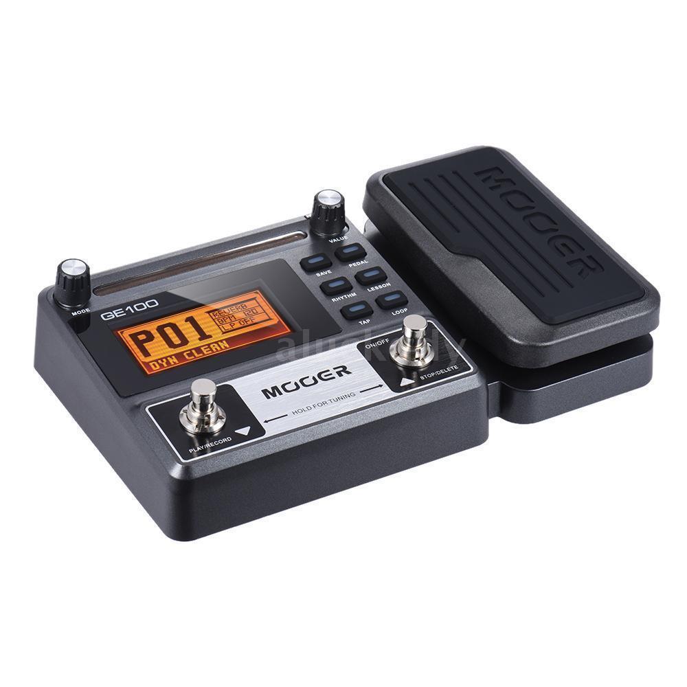 Mooer GE100 GE100 GE100 Procesador Multi-Efectos Guitarra Pedal de efecto con grabación de bucle W0N0  Envío 100% gratuito
