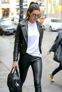 e64ecb21950a7d Details about L'agence 100% Pur Amour Skinny Black Stretch Soft 100% Leather  leggings! 1100$