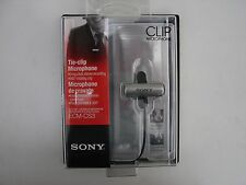 """Sony ECM-CS3 Electret Condenser Stereo Tie-Clip Microphone """"New in a Box"""""""