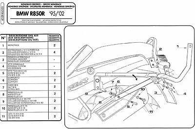 Fiducioso 635f Givi Attacco Bauletto Monokey-monolock Per Bmw R 1100 R 1999 2000 2001