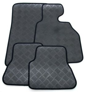 Perfect-Fit-3mm-Thick-Rubber-Car-Mats-for-Fiat-500X-2014-gt-with-Black-Ribb-Trim