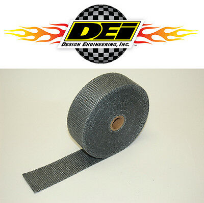 "DEI 010108 2""x50' Exhaust Manifold Header Downpipe Heat Wrap - Black - High Temp"