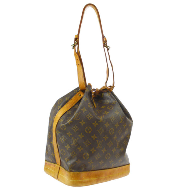 LOUIS VUITTON NOE DRAWSTRING SHOULDER BAG PURSE MONOGRAM M42224 A51216
