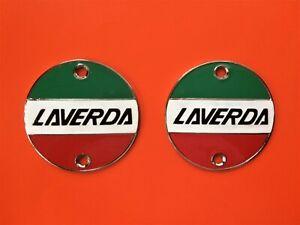 LAVERDA-1000-JOTA-180-1200-SF-FUEL-TANK-METAL-BADGES-PAIR