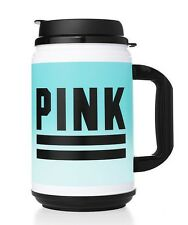 VICTORIA'S SECRET PINK! Travel Mug Thermos Water Beach Bottle  24. oz Mint Ombre