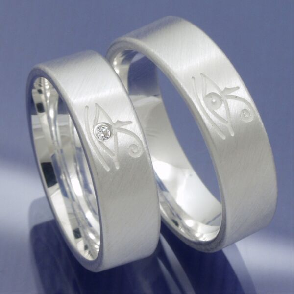 1 Paar 925 Silber Eheringe Trauringe Partnerringe Freundschaftsringe 0777 Exquisite (In) Verarbeitung