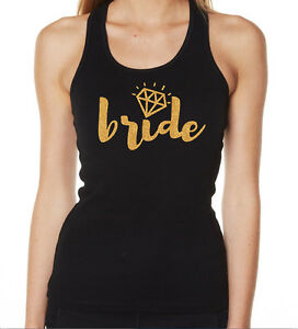 HENS-NIGHT-BRIDAL-SHOWER-IRON-ON-TRANSFER-GLITTER-GOLD-BRIDE-TO-BE