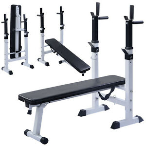 Adjustable Folding Sit Up Bench Barbell Weight Dip Station