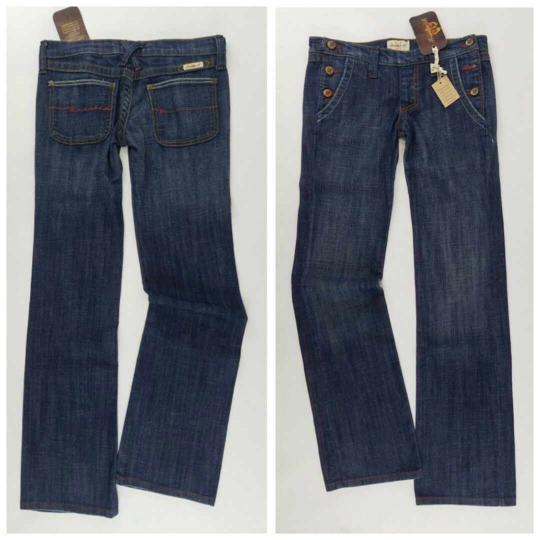 FRANKIE B Jeans 6 x 33 flare - side buttons  NWT