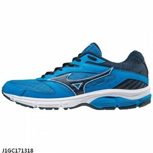 Details about Mizuno Wave Surge Blue Black Men D Width Running Shoes J1GC171318