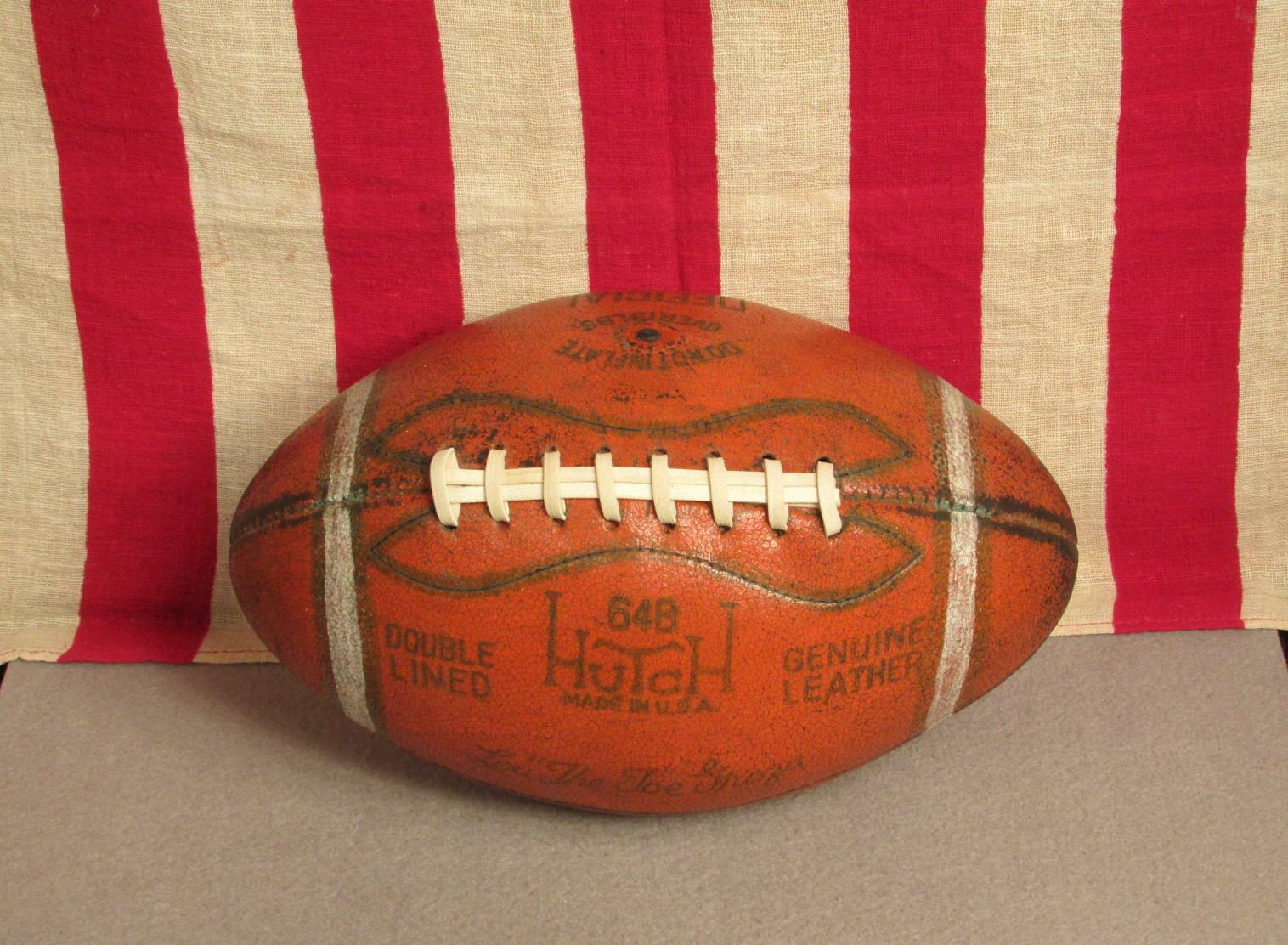 Vintage 1950s Hutch Leather Official Football Laces Lou The Toe Groza 64B Browns