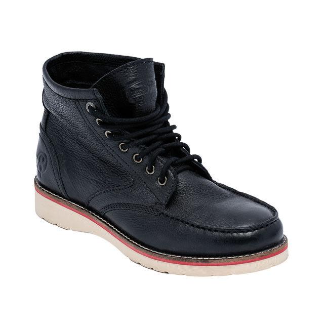 Jesse James Sturdy Nera Work Boots in Pelle Nera Sturdy ** Consegna Gratuita nel Regno Unito ** 5c9868