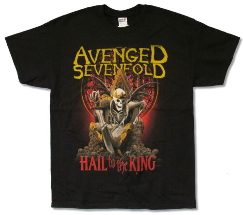 Avenged Sevenfold nouveau jour se lève Tour 2014 Chemise Noire New Official A7X Hail King