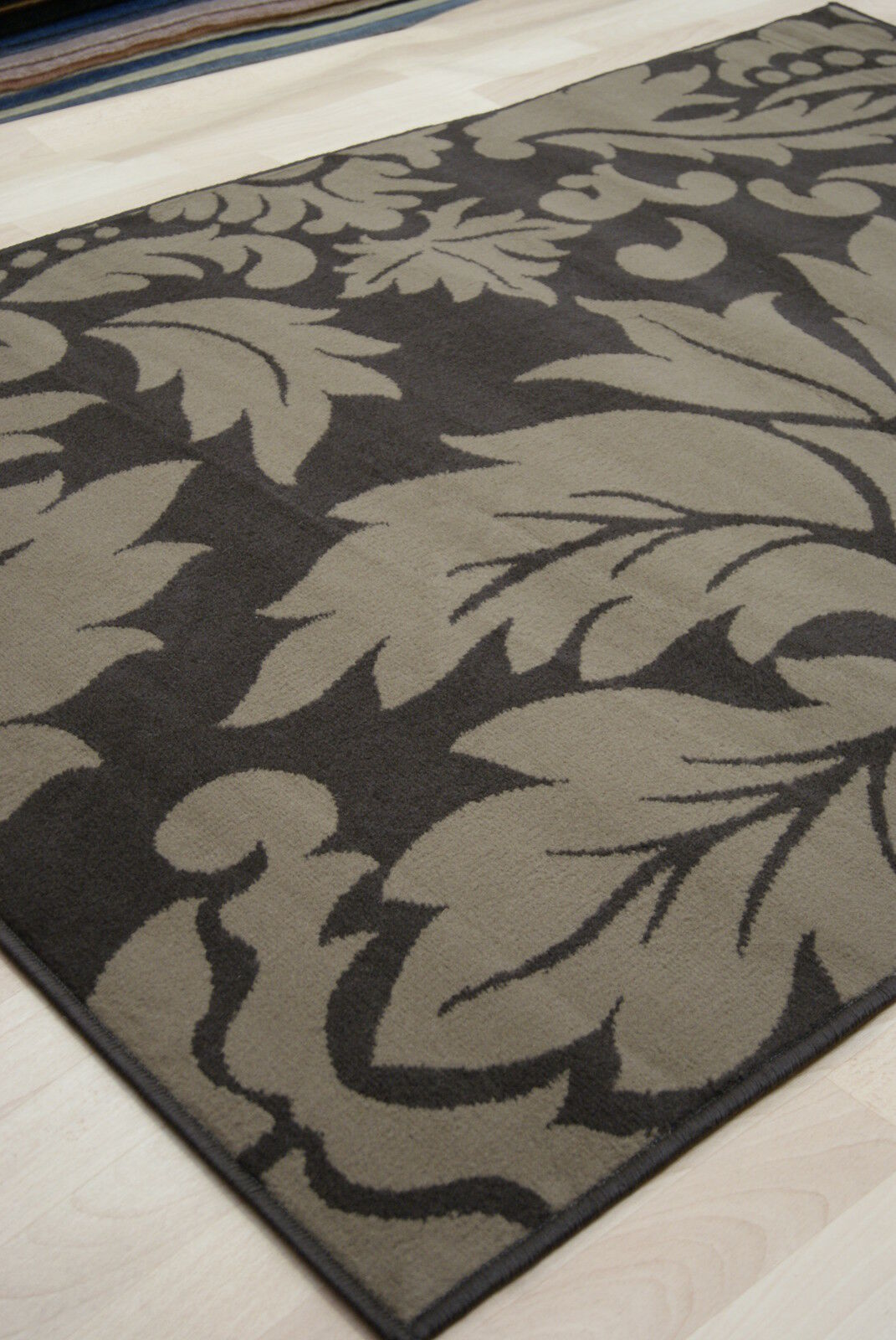 Bilancio economico CIOCCOLATO & Marronee DAMASCATO Modern Medium Large Tappeto 160x230 cm