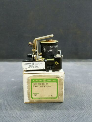 General electric CR120E00124  RELAY 15 AMP 600VOLT 3//4 HP 24 VOLT COIL NEW IN BO
