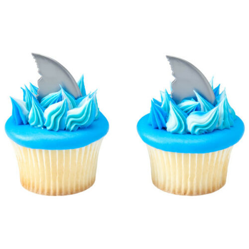 24 Count Shark Fin Cupcake Picks