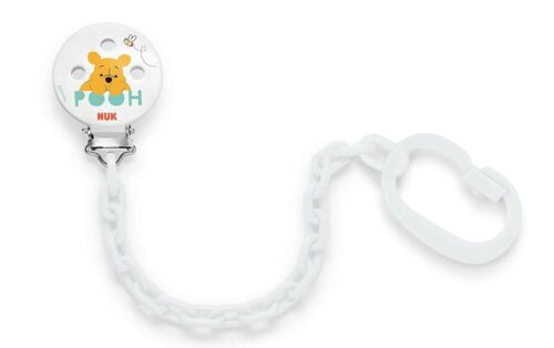 NUK Disney Soother Chain with Clip Winnie Mickey /& Shoohter Band BPA Free