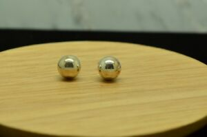 925 Sterling Silver 12mm Extra Large Plain Round Bead Ball Stud Earrings B/'Day N