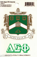 Delta Sigma Phi, Δσφ, Crest & Letter Vinyl Decal Combo Indoor/outdoor Use