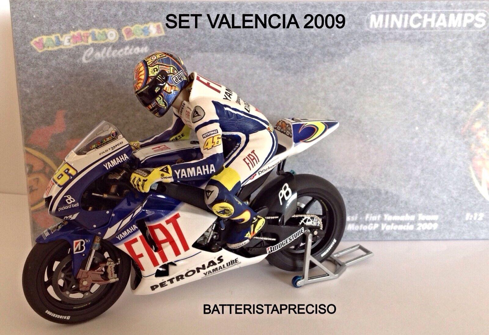 MINICHAMPS VALENTINO ROSSI 1 12 SET GP VALENCIA 2009 WORLD CHAMPION 122093076