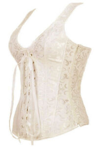 Renaissance Corset Large Off White Corset with Straps Lace Up Victorian Corset | eBay