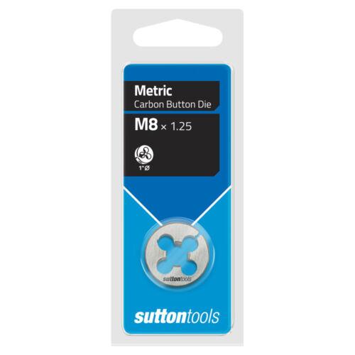 "SUTTON M10 x 1.5mm 1"" DIAMETER METRIC CARBON BUTTON DIE"