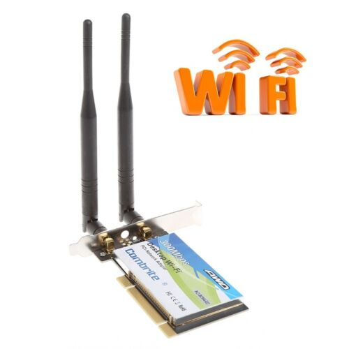 BCM4322 300Mbps 2.4G Wireless Wifi PCI-E Card Desktop Adapter With 6dBi Antenna