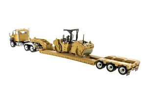 Diecast-Masters-85601A-Caterpillar-CT660-w-Lowboy-amp-CAT-CB-534D-Compactor-1-50