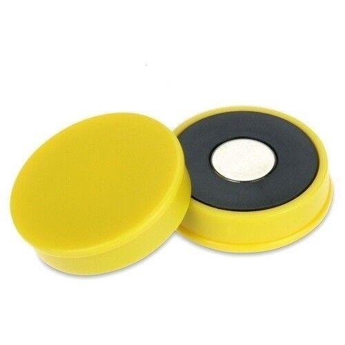 10 x Pinnwandmagnete Memomagnet Ø 30 mm x 8 mm Neodym gelb hält 2,7kg