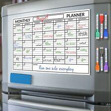 Scribbledo Magnetic Dry Erase Monthly Calendar Planner White Board Sheet For
