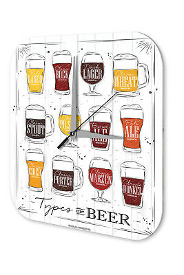 Orologio Da Parete Birra Nostalgica Tipi Di Birra Acrylglas Possessing Chinese Flavors Home Décor Wall Clocks