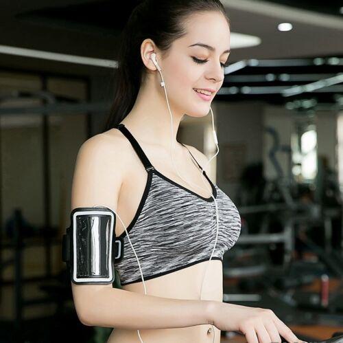 Women Fitness Stretch Workout Tank Top Seamless Racerback Padded Sports Yoga Bra