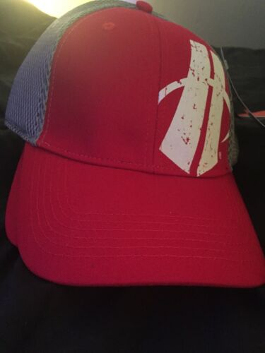 Hincapie Mens Sz L//XL Hat Red Ventilated Fitted Pro Back Ball Cap