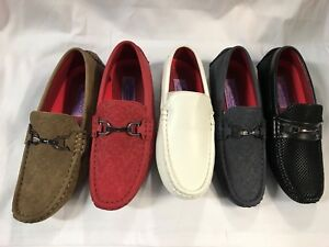 Boys-PENNY-loafer-slip-on-PARTY-WEDDING-ASRT-COLORS-SIZE-5-12-toddler-13-8-youth
