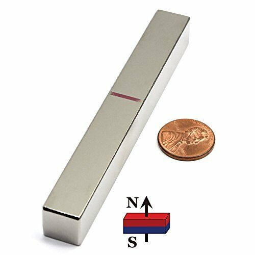 NEW CMS Magnetics® 4 Long Bar Neodymium Magnet Grade N45 4x1 2x1 2 One Ct.
