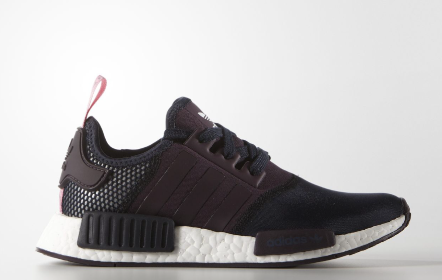 ADIDAS NMD_R1 LEGEND INK/MINERAL RED/SEMI PINK GLOW gris femmes TRAINERS UK7