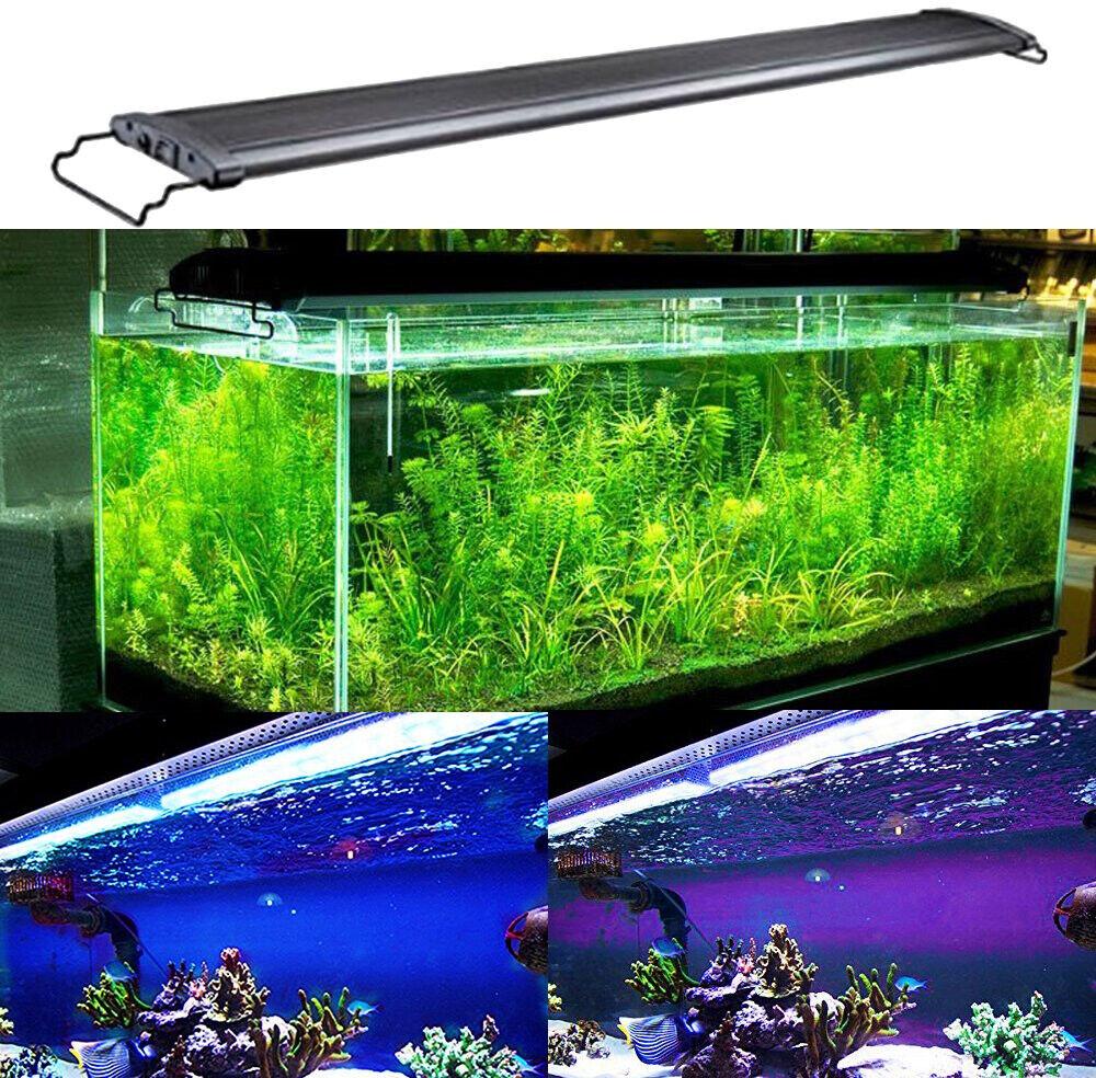Fresh Water Marine Aquarium Fish Tank LED Hood Light. 9.5  11 Watts