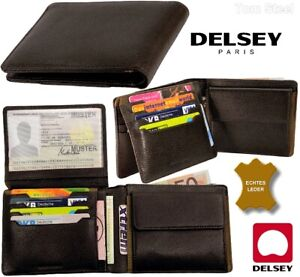 DELSEY Herren Leder Brieftasche Geldboerse Geldbeutel бумажник портмоне мужчины