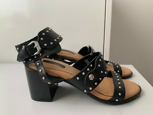 cheap prices size 7 presenting Details about Ladies Topshop Black Studded Sandals Size UK 3