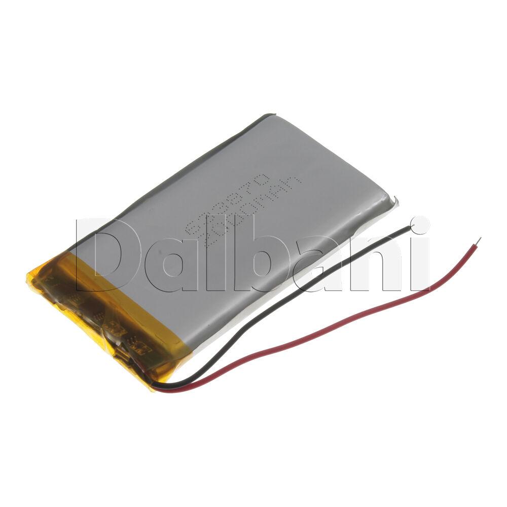New 3.7V 1900mAh Internal Li-ion Polymer Built-in Battery 72x39x7mm 29-16-0824