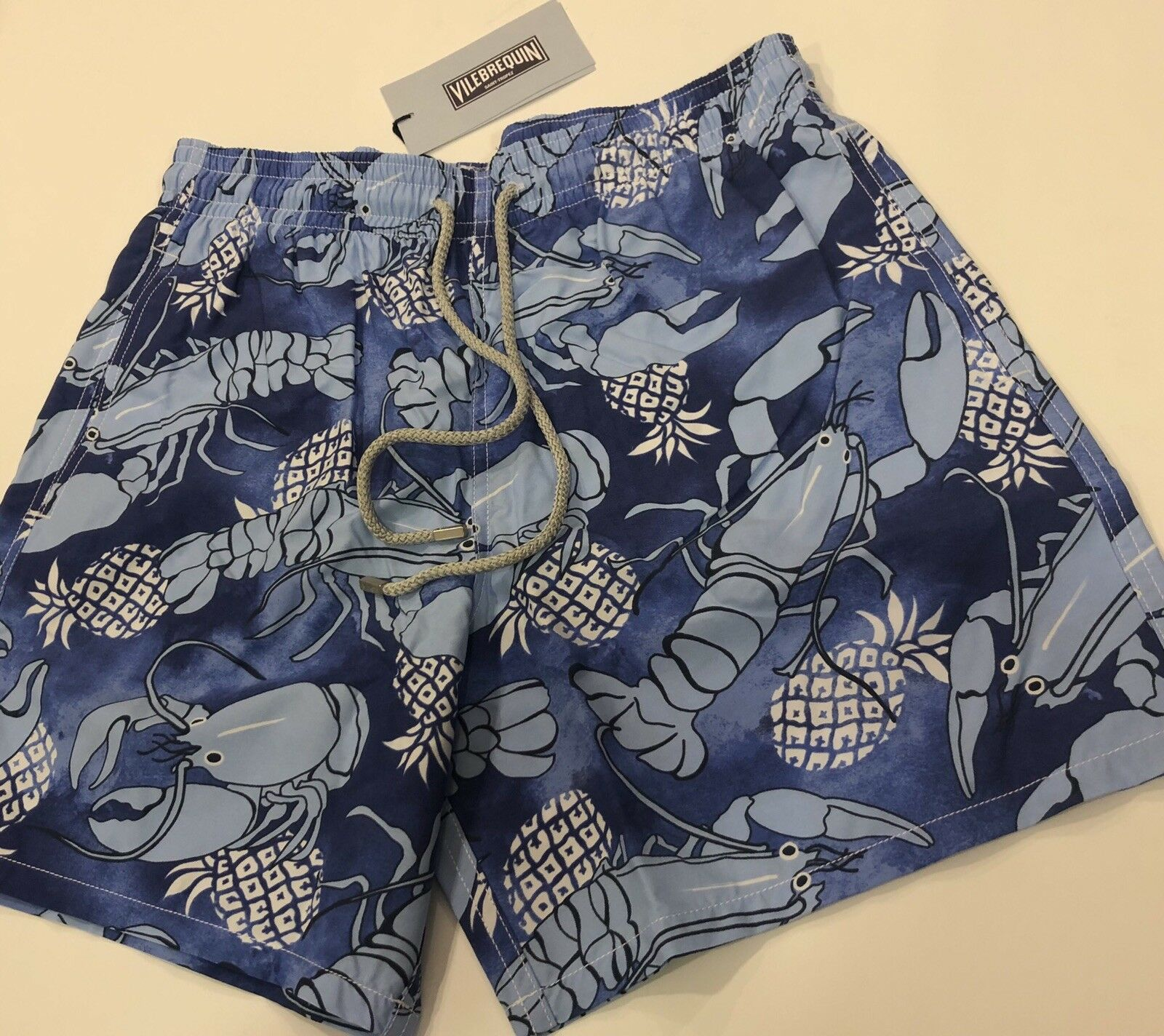 New w Tags Authentic Vilebrequin MOOREA Lobsters bluee Swim Trunks for Men 2XL